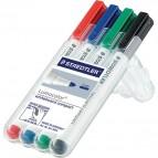 Marcatore a secco Lumocolor® whiteboard compact Staedtler - assortiti - tonda - 1-2 mm - 341 WP4 (conf.4)