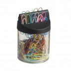 Fermagli colorati Leone Color Dell'Era - Barattolo calamitato - N 4 - 32 mm - FXM4 (conf.60)