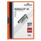 Cartelline Duraclip® Durable - 3 mm - Capacità 30 fogli - arancione - 2200-09