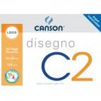 Album da disegno C2 Canson - Liscio riquadrato - 120 g/mq - 20ff - C100500448