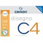 Album da disegno C4 Canson - Liscio riquadrato - 24x33 cm - 200 g/mq - 20ff - C100500451