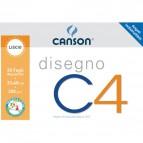 Album da disegno C4 Canson - Liscio riquadrato - 33x48 cm - 200 g/mq - 20ff - C100500454