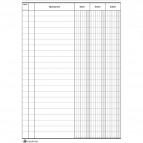 Registro dare/avere/saldo Semper Multiservice - 96 - 21x15 cm - SEL001100
