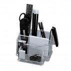 Set portaoggetti da tavolo Plexi con accessori Niji - trasparente - 5474