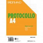 Fogli protocollo Fabriano - in blister - rigato uso bollo - 60 g/mq - 32300030 (conf.30)