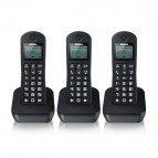 Telefono Cordless BEST Brondi - 3 Telefoni - nero - BEST TRIO