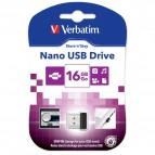 Chiavette USB Verbatim Store'n Go Nano - 16 GB - USB 2.0 - 97464