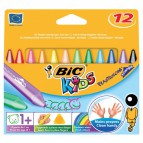 Pastelli a cera Plastidecor Triangle Bic - 11 mm - 1+ - 829773 (conf.12)