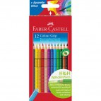 Matite Colorate Acquerellabili Colour Grip Faber Castell - Astuccio Cartone  - 112412 (Conf.12)