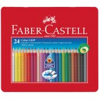 Matite Colorate Acquerellabili Colour Grip Faber Castell - Astuccio Metallo - 112423 (Conf.24)