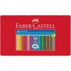 Matite Colorate Acquerellabili Colour Grip Faber Castell - Astuccio Metallo - 112435 (Conf.36)