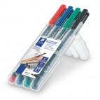 Pennarello Astucci Lumocolor Permanent 318 - punta 0,6mm - 4 colori  - Staedtler