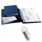 Raccoglitore Sanremo 2000 - 4 anelli a D 25 mm - dorso 4 cm - 25x35 cm - blu - Sei Rota