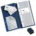 Portabiglietti Visita MC 16 - 15x28 cm - 160 biglietti - nero - Sei Rota