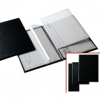 Portamenù L - 11x31 cm - PVC - nero - 2+2 tasche - Sei Rota