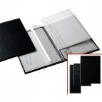 Portamenù G - 22x30 cm (A4) - PVC - nero - 2+2 tasche - Sei Rota
