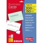 Biglietti da visita Decadry - laser/inkjet - bordo liscio - angoli vivi - 200 g - DCC342 (conf.500)