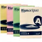 Cartoncino colorato Rismacqua Favini A4 - 140 g/mq - assortiti 5 colori - A65x224 (risma200)