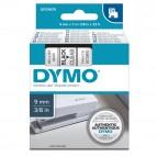 Nastro D1 409100 - 9 mm x 7 mt - nero/trasparente - Dymo