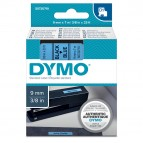 Nastro D1 409160 - 9 mm x 7 mt - nero/blu - Dymo