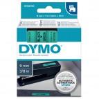 Nastro D1 409190 - 9 mm x 7 mt - nero/verde - Dymo