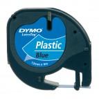 Nastro Letratag 912050 - in plastica - 12 mm x 4mt - blu - Dymo