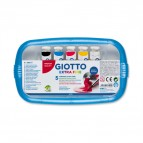 Astucci tubi tempere - 21ml - colori assortiti - Giotto - box da 5 tubetti
