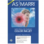 Carta inkjet - A3 - 100 gr - color design - patinata - bianco - As Marri - conf. 200 fogli