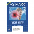 Carta inkjet - A4 - 125 gr - effetto opaco - bianco - As Marri - conf. 50 fogli