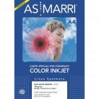 Carta inkjet - A4 - 120 gr - effetto opaco fronte/retro - bianco - As Marri - conf. 50 fogli