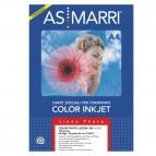 Carta fotografica inkjet - A4 - 180 gr - effetto lucido - bianco - As Marri - conf. 50 fogli