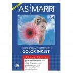 Carta fotografica inkjet - A3 - 150 gr - effetto lucido - bianco - As Marri - conf. 50 fogli