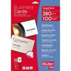 Biglietti da visita Decadry-laser/inkjet-microperf.-angoli vivi-fronte/retro-285g- OCB3261-S (conf.150)