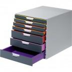 Cassettiere Da Scrivania Varicolor® Durable - Grigio E Multicolore - 7 - 2,5 / 5 cm - 7607-27
