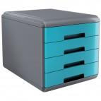 Accessori Da Scrivania My Desk Arda - Cassettiera - 29,5x38,5x28,2 cm - Turchese - 18P4Ptu