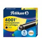 Cartucce inchiostro 4001 (TP/6) -  lunghezza 39mm - nero - Pelikan  - conf. 6 pezzi
