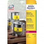 conf. 20 Etichette gialle poliestere - 20ff Avery L6105-20