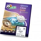 conf. 100 Etichette trasparenti lucide 36x22 Tico PC4-36