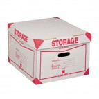 Scatola Storage - con coperchio - 38,5x26,4x39,7 cm - bianco e rosso - Esselte Dox