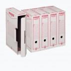 Scatola archivio Storage - A4 - 8,5x31,5x22,3 cm - bianco e rosso - Esselte Dox