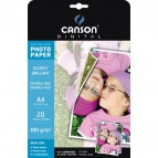 Carta fotog Glossy dside A4 180g Canson C200004321 (conf.20)