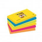 Foglietti Post-It® Super Sticky Rio De Janeiro  - 76x127 mm - 655-6Ss Rio-Eu (Conf.6)