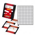 Etichetta adesiva - permanente -  tonda ø 10 mm - 120 etichette per foglio - bianco - 10 fogli per confezione - Markin