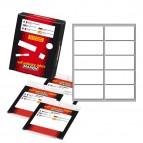 Etichetta adesiva - permanente - rettangolare - 58x27 mm - 10 etichette per foglio - 10 fogli per busta - bianco - Markin