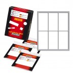 Etichetta adesiva - permanente - rettangolare - 70x37 mm - 6 etichette per foglio - 10 fogli per busta - bianco - Markin