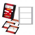 Etichetta adesiva - permanente - rettangolare - 100x46 mm - 3 etichette per foglio - 10 fogli per busta - bianco - Markin