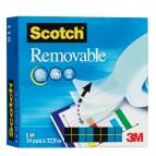 Nastro adesivo Scotch® Magic™ 811 - removibile - invisibile - 19 mm x 33 mt - trasparente - Scotch®
