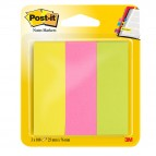 Segnapagina Post-it® in carta - 25x76 mm - 3 colori Neon - Post-it - conf. 300 pezzi