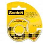 Nastro biadesivo Scotch® - in chiocciola - permanente - senza liner - 6,3 m x 12 mm - trasparente - Scotch®
