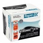 Punti Rapid Super Strong - alti spessori - 9/10 - acciaio zincato - metallo - Rapid - conf. 5000 pezzi